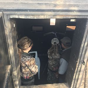Inside the Bow Blind Hide