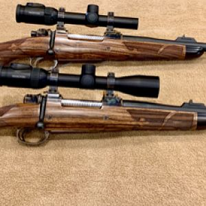 Pair of American Hunting Rifles Custom rifles chambered in 375 H&H and 505 Gibbs