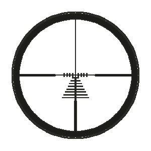 Leica Magnum ballistic reticle without illuminated dot (ER)