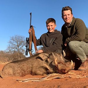 South Africa Hunting Warthog