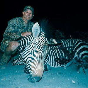 Bow Hunt Hartmann's Mountain Zebra in Namibia