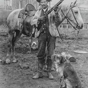 American rancher and his dog
