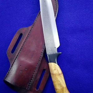 Farriers Rasp Bowie Knife with Sheath