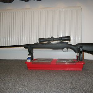 .416 Rifle mounted with Meopta Meostar R2 1.7-10x42