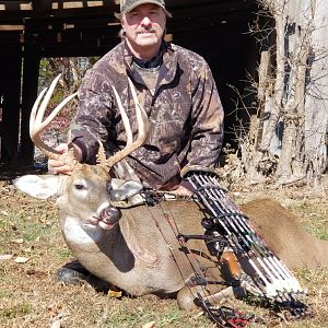 White-tailed Deer Bow Hunting Western Kentucky USA