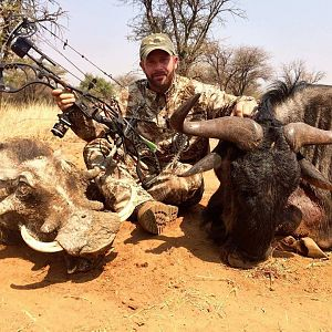 Warthog and Widebeest double