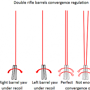 Double Rifle Barrel Convergence Regulation