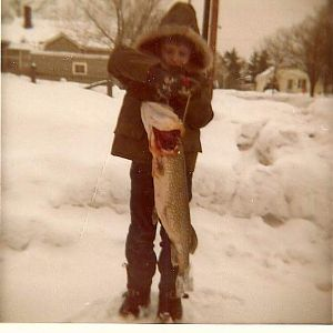 Ice fishing Michigan USA