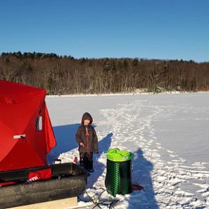 Ice Fishing in Maine USA