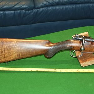 1907 Rigby in 303 British Rifle with an original slant box commercial Oberndorf Mauser action