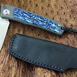 Kudu Bone (Jean Blue) Rinkhals Slip Joint Folder from African Sporting Creations