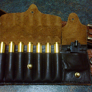 Talley aperture sight in  carry case with Ammo