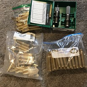 Set of RCBS die and Norma & Nosler Brass