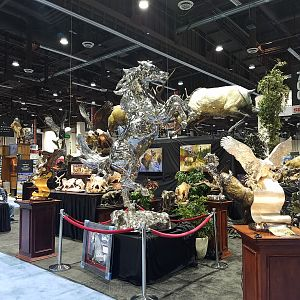 Taxidermy at Safari Club International (SCI) Convention Reno 2020
