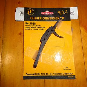 Thompson Center trigger conversion from double to single trigger