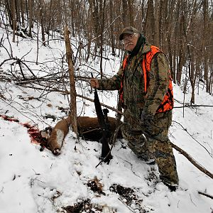 Hunting White-tailed Deer in USA