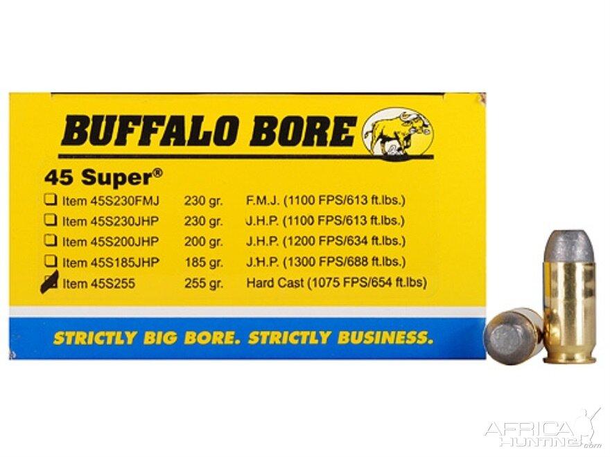 Buffalo Bore 255g hard cast Bullets   Hunting