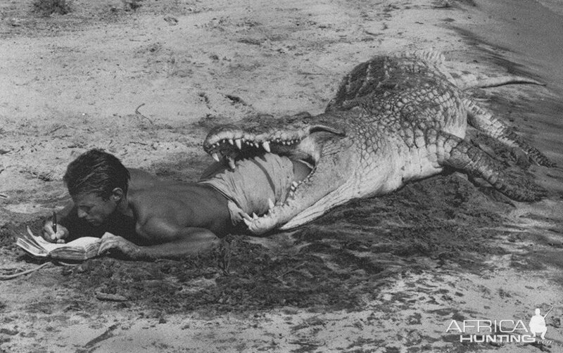 Crocodile Hunting with Peter Beard