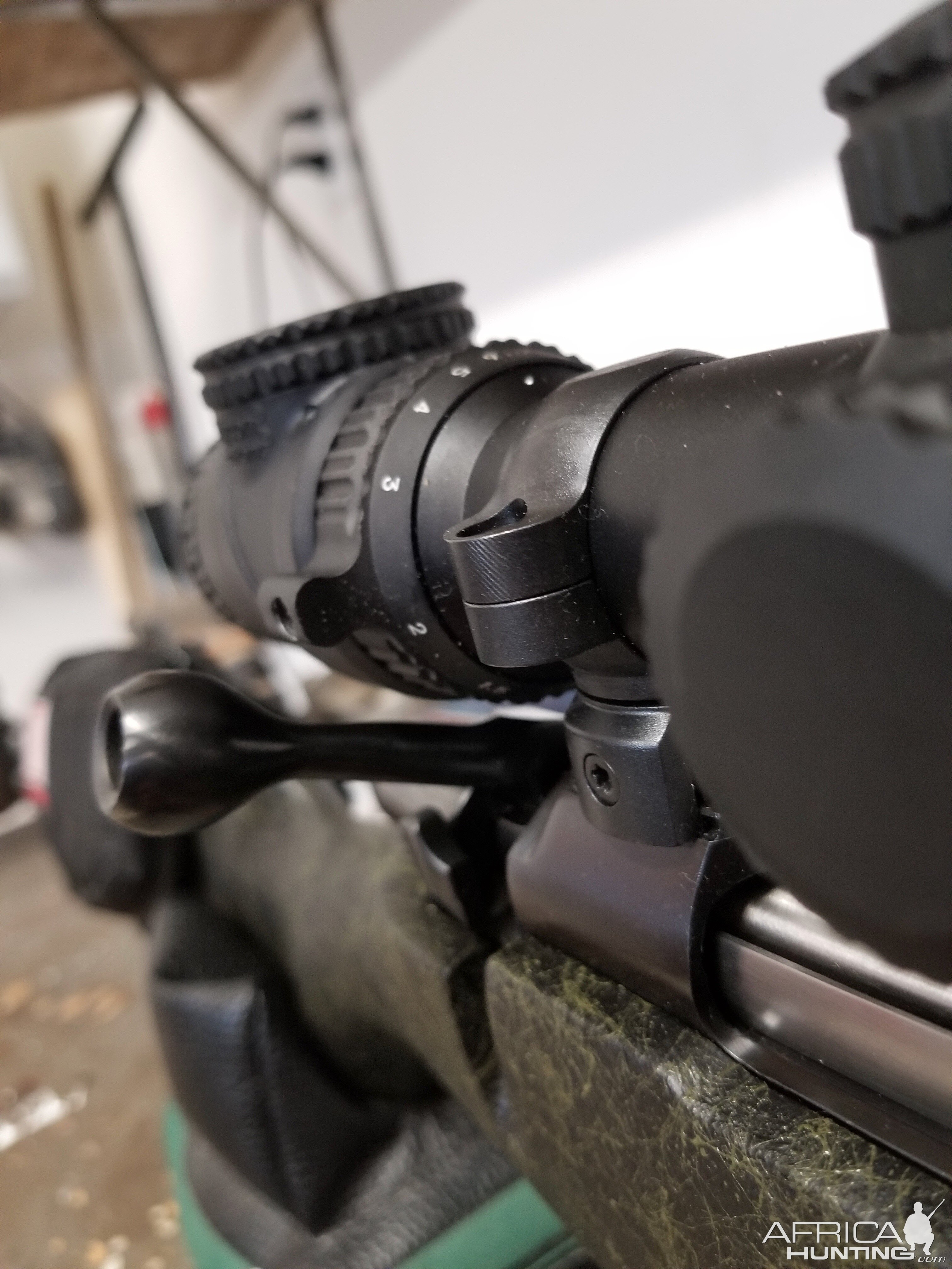 CZ 550 .416 Rigby Rifle mounted with Trijicon AccuPoint 1-6 30mm