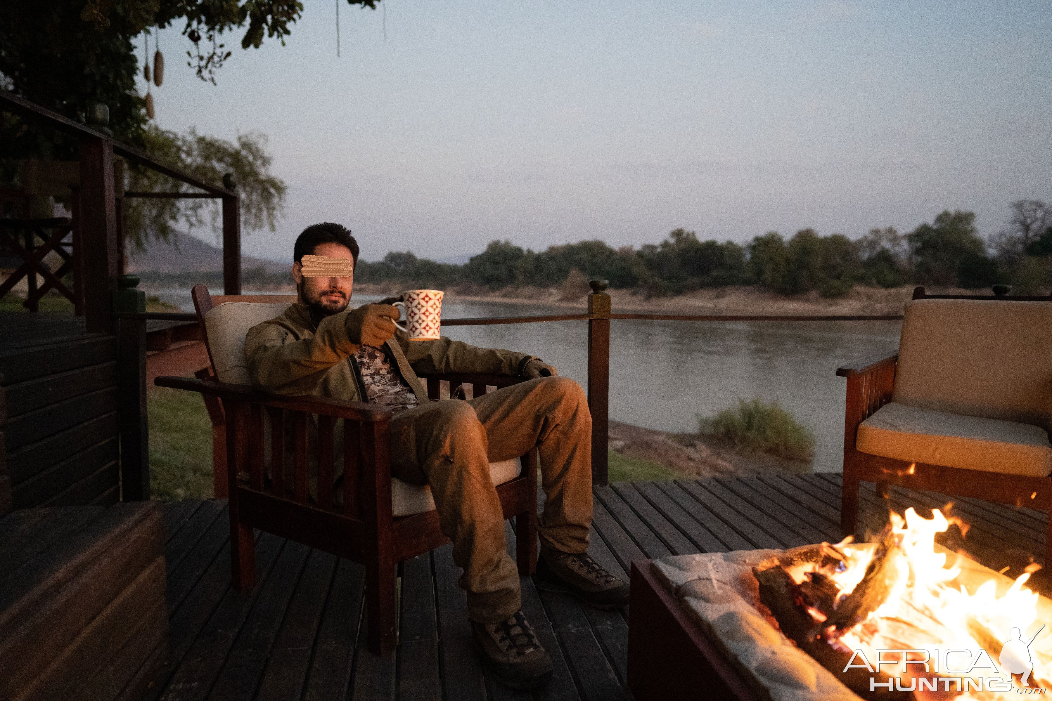 Morning coffee by the mopane fire