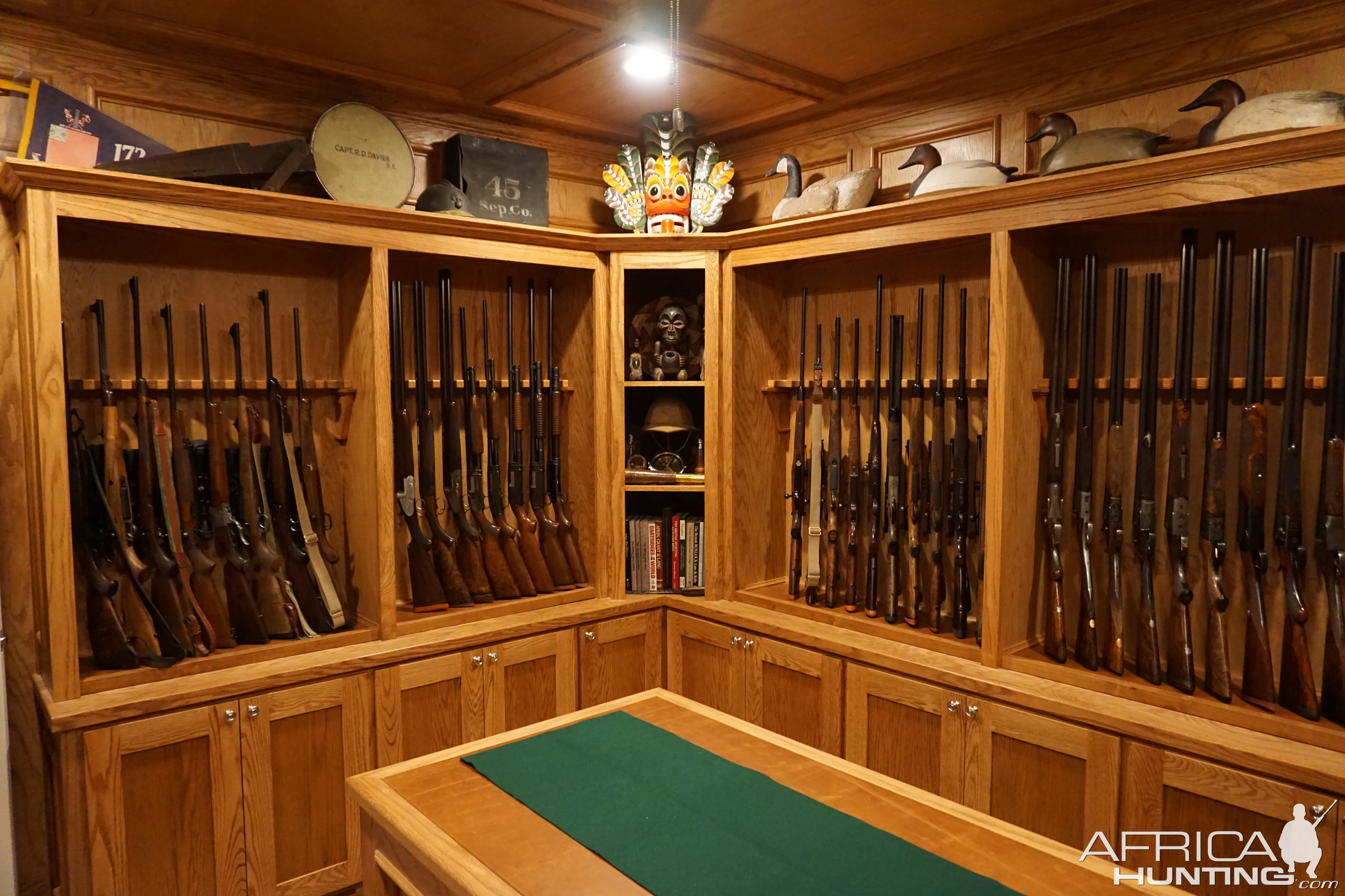 Gun room trophy room done hunting for Gun room design