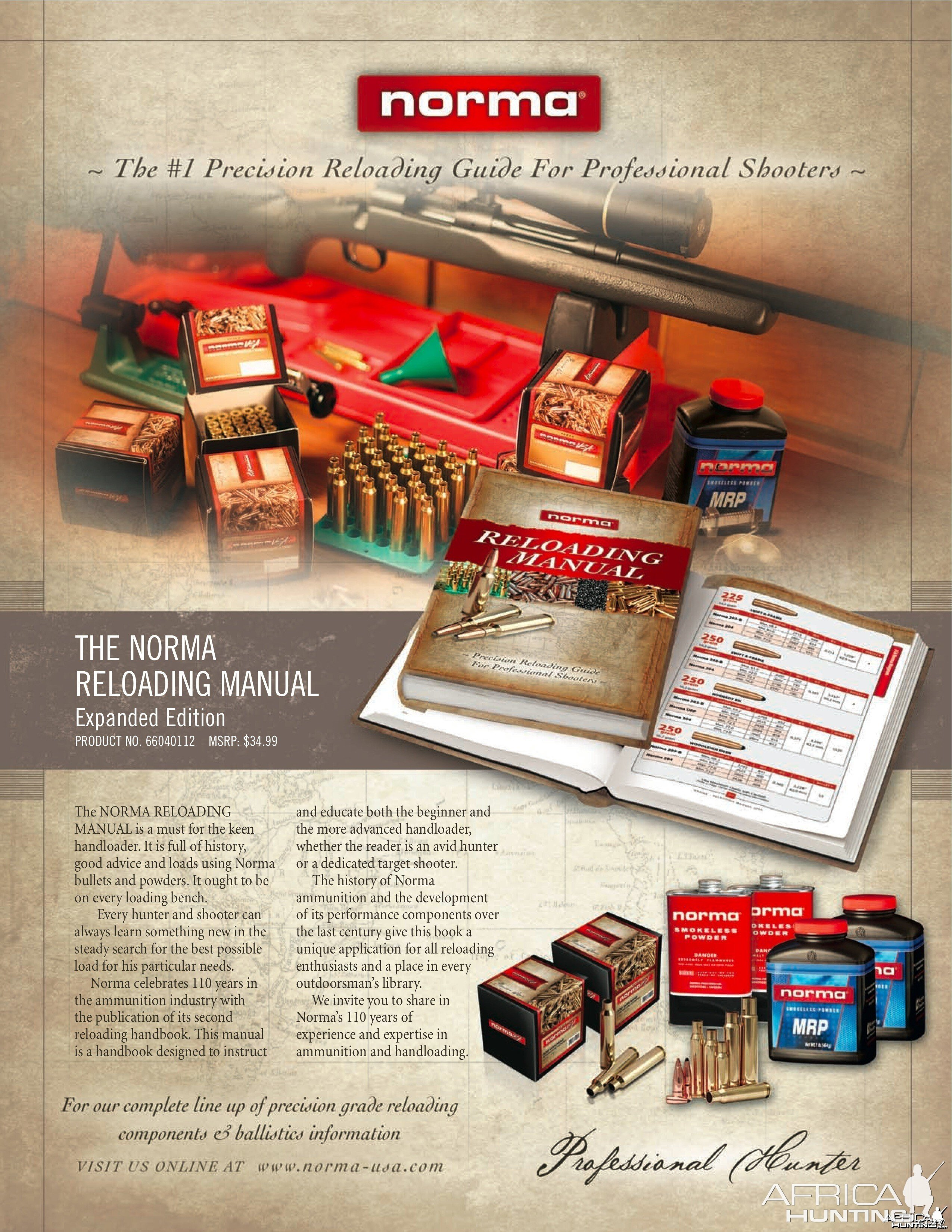 Norma-USA Announces the #1 Precision Reloading Guide   Hunting