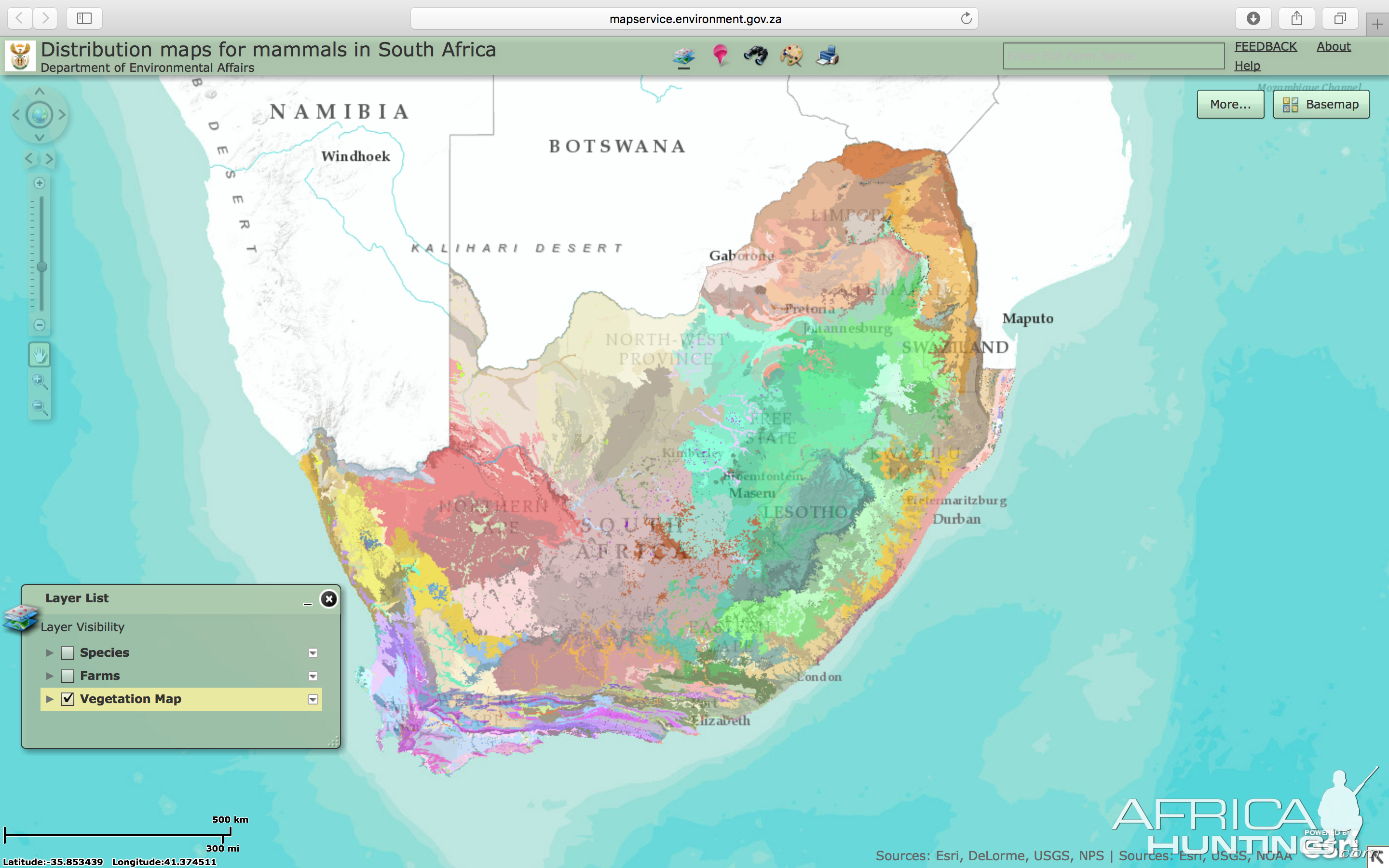 Map Of Africa Vegetation.Vegetation Map South Africa Hunting